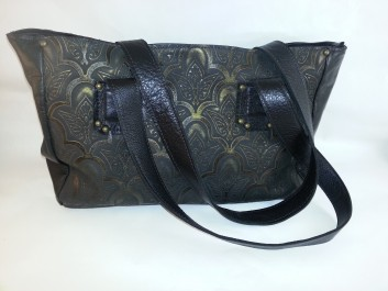 cimarron handbags black and gold front